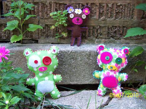 Felt teddy group photo