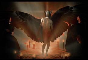 Summoning an angel by black-cat16