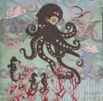 1 octopus 2 jellys 3 seahporse