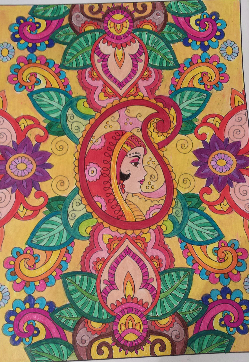 Mehndi Designs Coloring Book : Creative haven mehndi designs coloring book page by