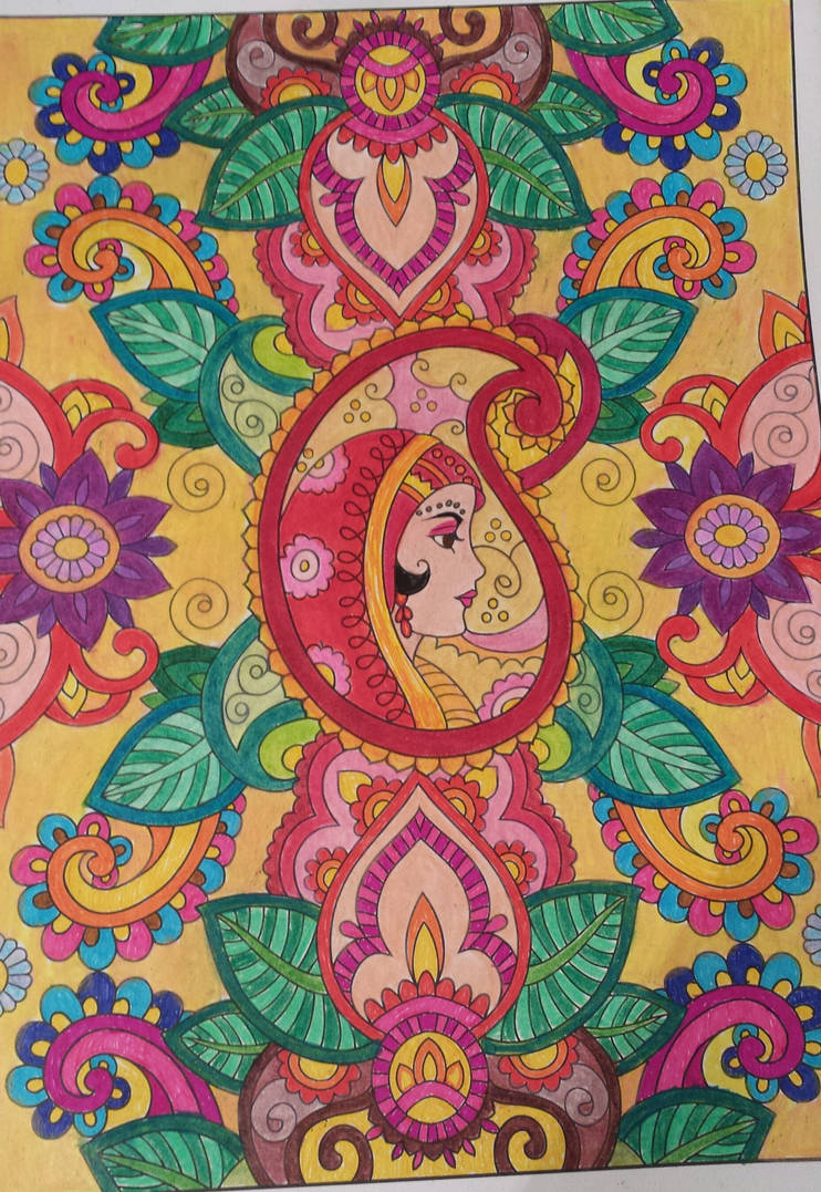 Creative Haven Mehndi Designs Coloring Book Page 1 By