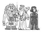 harry potter wizards sketch