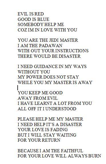 Star Wars Poem by HENDO666 on DeviantArt