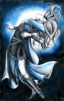 Dying elf by JankaLateckova