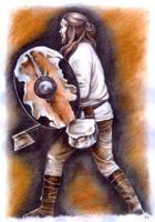 Slavic warrior by JankaLateckova