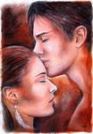 Gentle kiss by JankaLateckova