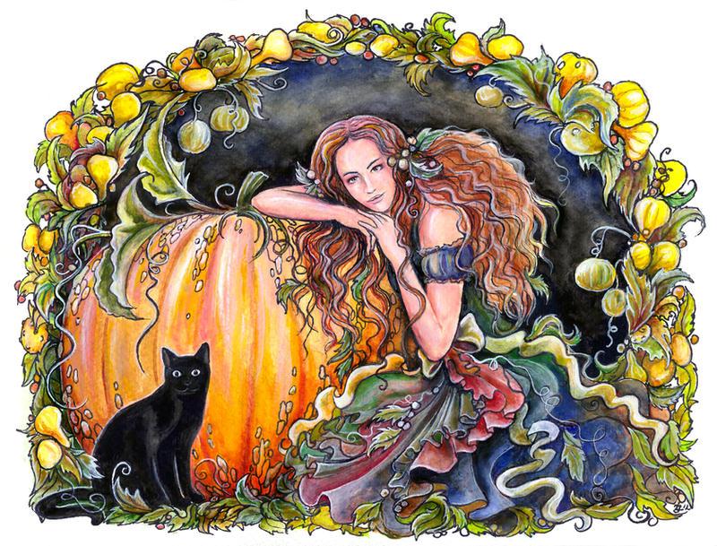 Pumpkin fairy by jankolas
