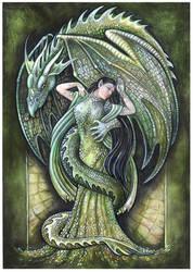 Dragon's bride (green) by JankaLateckova