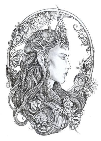 Elven Queen by jankolas