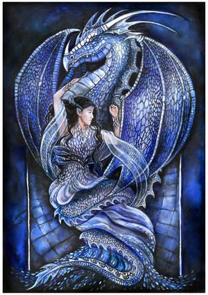 Dragon's bride (blue) by JankaLateckova