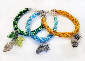Kumihimo bracelets by JankaLateckova
