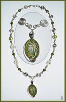Green Tree Necklace by JankaLateckova