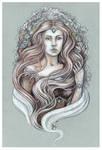 Portrait of elven lady