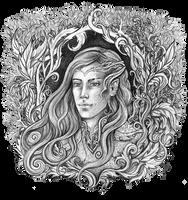 Portrait of an Elf 2 by JankaLateckova