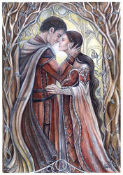Beren and Luthien by JankaLateckova