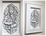Elven King - relief sculpture
