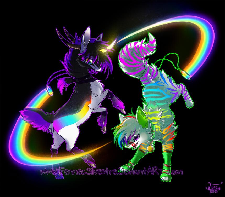 Rainbow Rave by FennecSilvestre