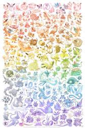Pokemon Rainbow by FennecSilvestre