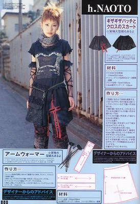 black skirt pattern