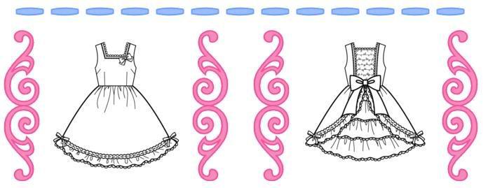 Lolita dress drawing