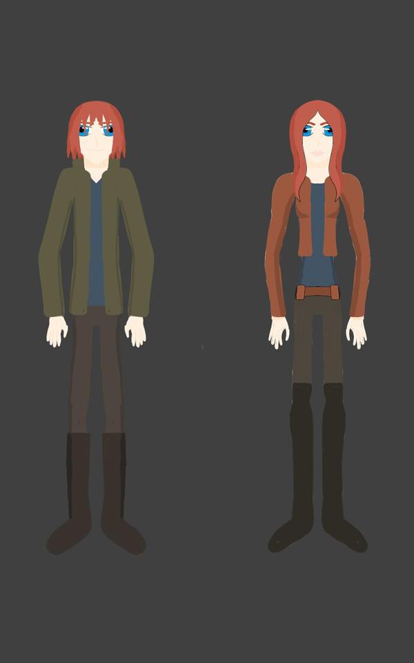 The Echo twins (Star Wars OC's) by RedthestreetsKat