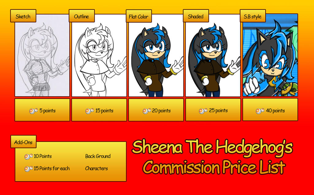 Commission Price Listing by sheenathehedgehog