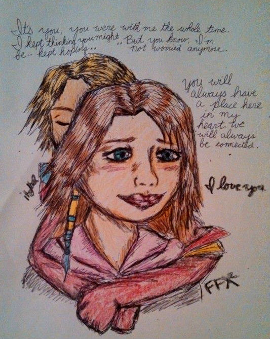 Yuna and Tidus- FFX2 sad ending- colored by itgbae