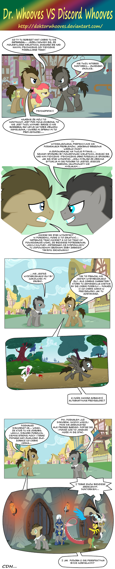 Dr. Whooves VS Discord Whooves by doktorwhooves on deviantART