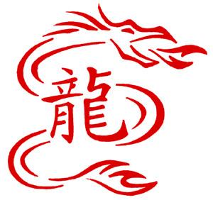 dragons in kanji