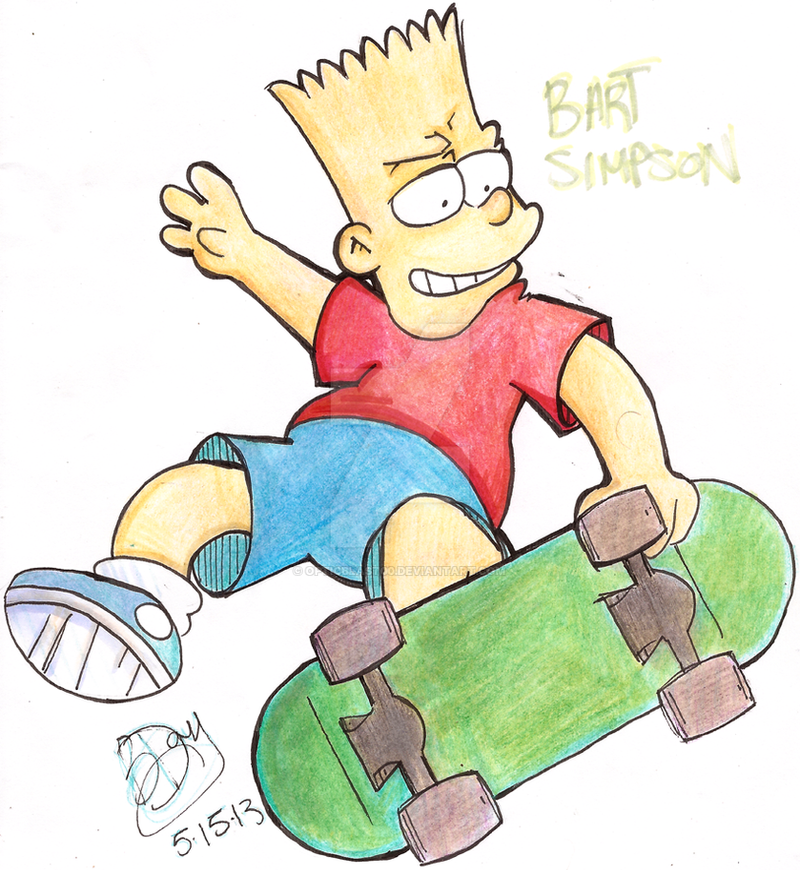 Bart Simpson by OpticBlast00