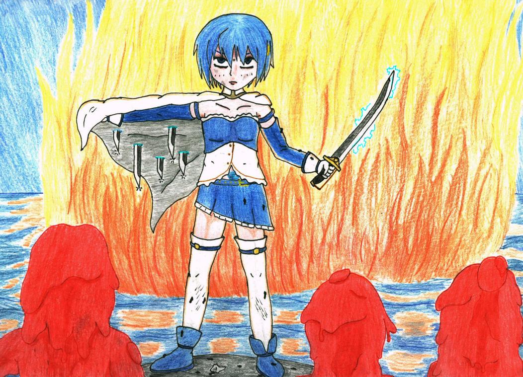 Sayaka vs Jellax by Zoe-the-Pink-Ranger
