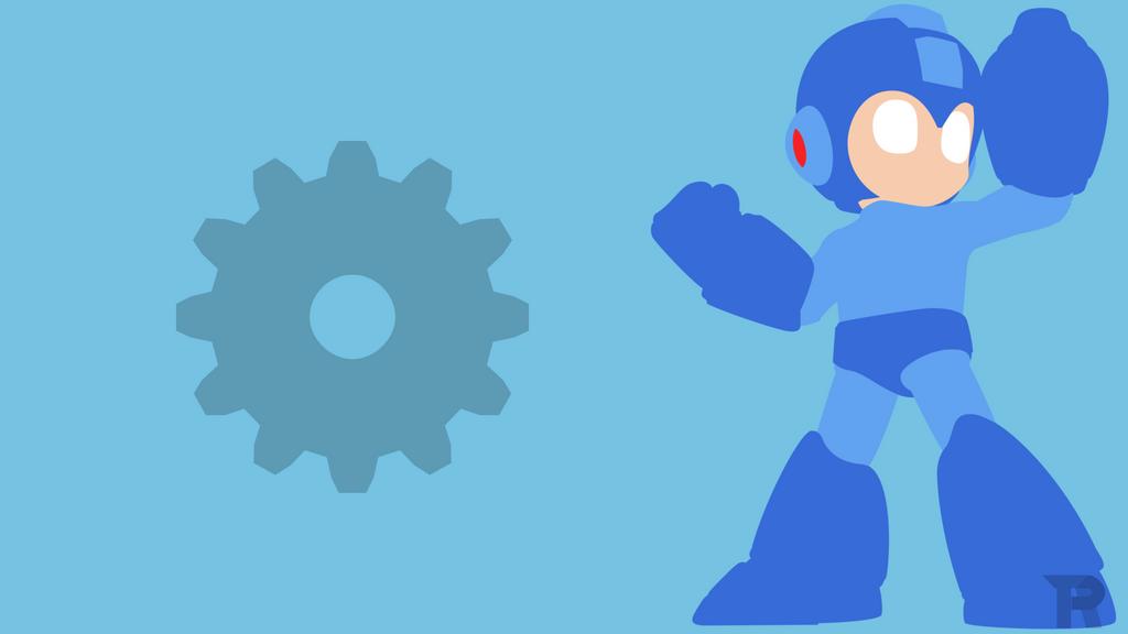Mega Man Minimalist by turpinator77
