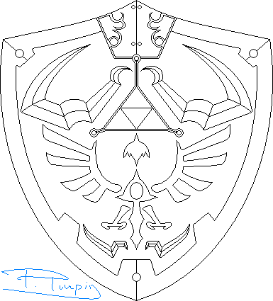 Hylian Shield Coloring Page