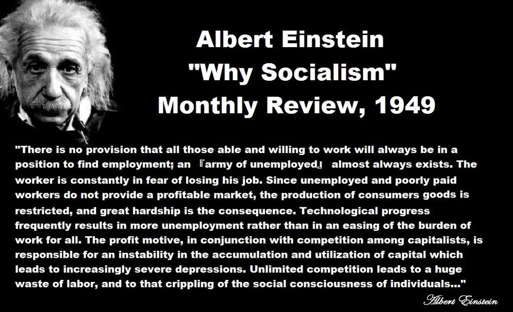 Socialist Albert Einstein by  Socialism