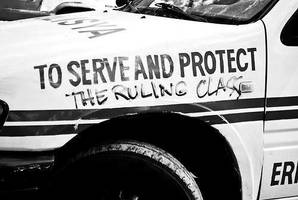 Police Car Graffiti by Valendale