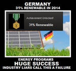 Germany 31% Renewable - Huge Success