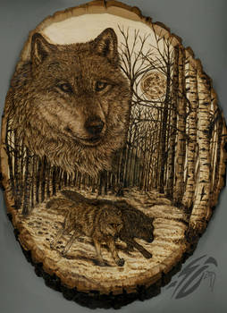 Heart of the Woods Pyrography