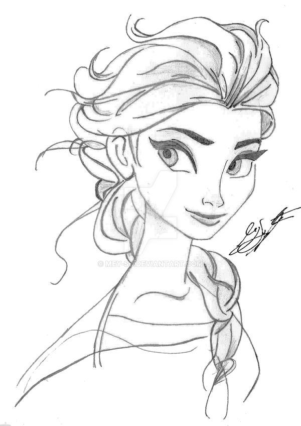 Elsa Sketch - Frozen by Mey-Su