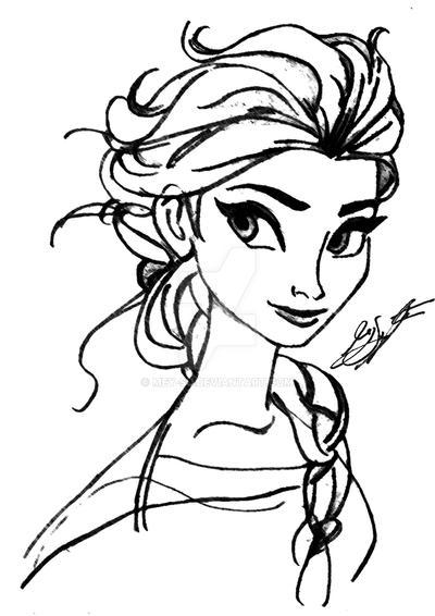 Elsa Portrait - Frozen by Mey-Su