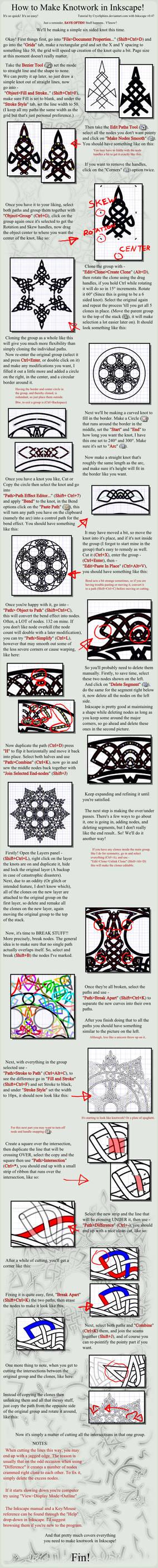 Knotwork Tutorial for Inkscape