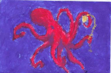 Octopus Holding Watch by Jackofalltrades150