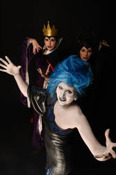 Evil Queen, Maleficent and lady Hades