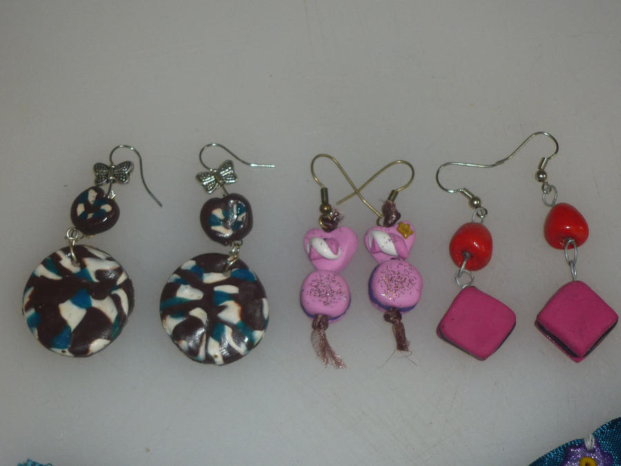 boucles d o en pate fimo by mamsellebaba on deviantart