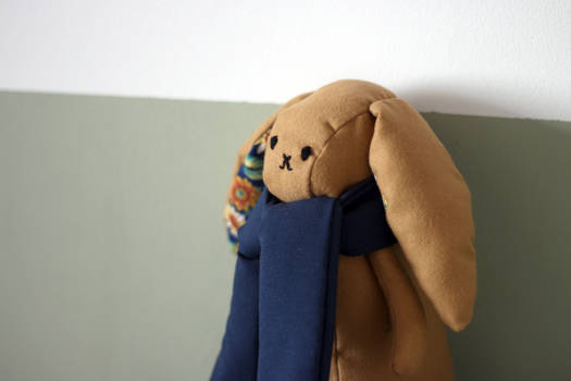 Plum Rabbit Hima plushie