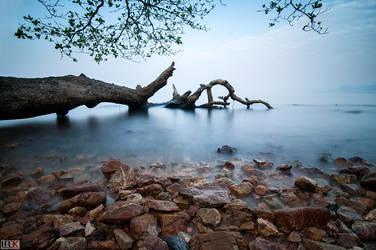 Rocky Beach at Dawn by LordRobin3K