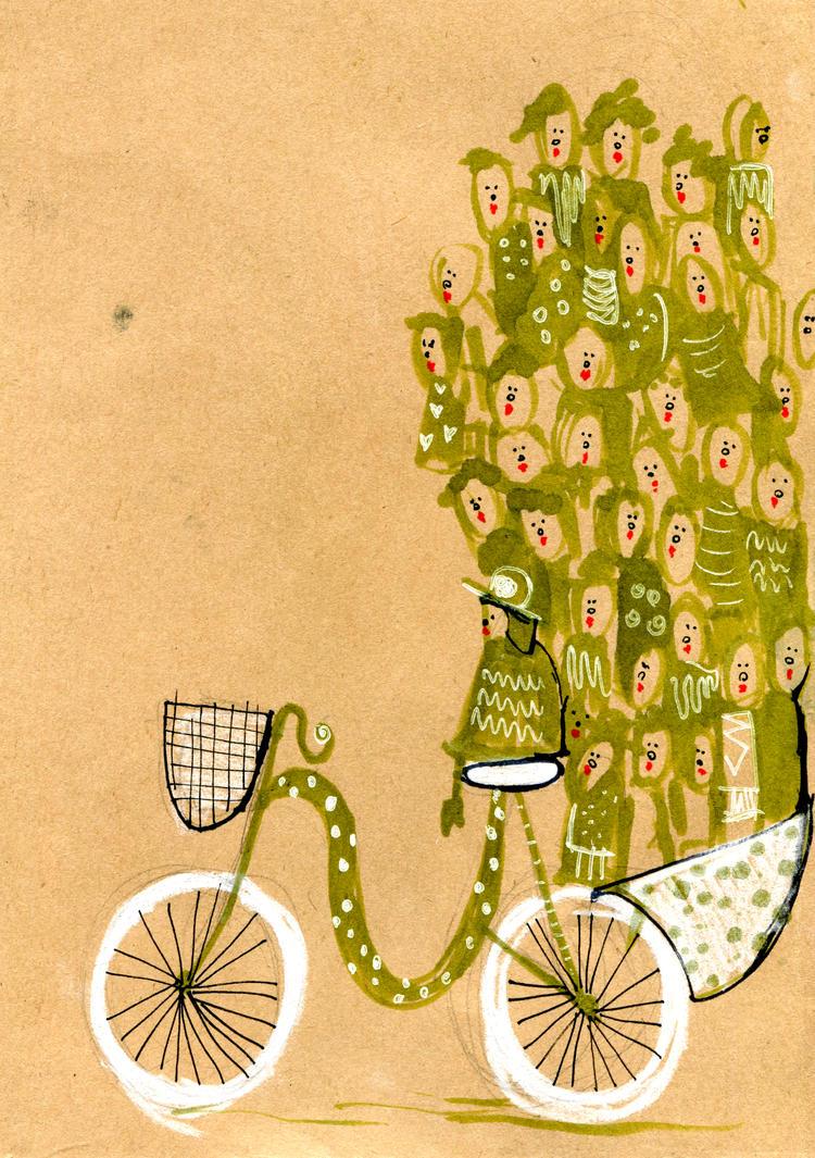 23 women on a bike by Zanzaya