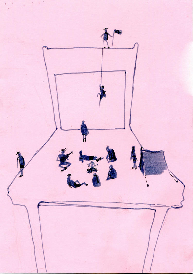 11 people on the chair by Zanzaya