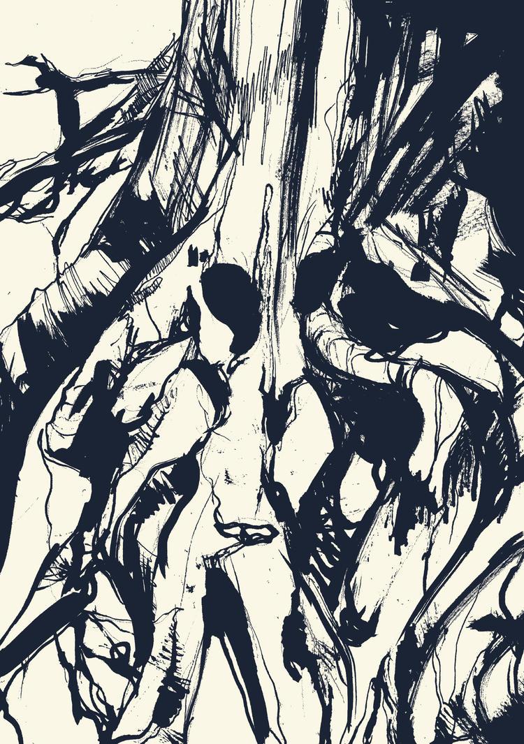 Among roots by Zanzaya