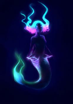 Bio-luminescent Mermaid (Work in Progress)
