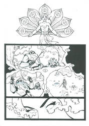 Peekablue Section Page 02 Lineart by MotU85